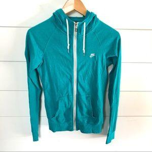 NIKE Lightweight Hooded Zip Front Sweatshirt